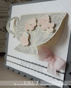 A cup of thanks using Tea Shoppe from Stampin' Up!
