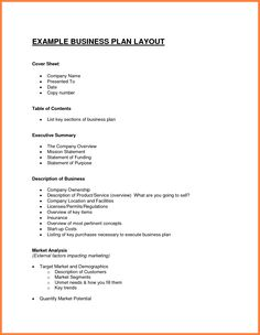12 Exles Business Plan Outline Bussines 2017