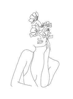 Doodle art 621144973594337537 - Bloom My Friend . Myrtle et Olive Quotes Art Minimaliste, Minimal Art, Art Du Croquis, Kunst Tattoos, Line Art Tattoos, Minimalist Drawing, Minimalist Style, Doodle Art, Art Sketches