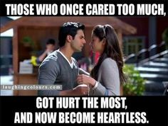 Heartless Crazy Girl Quotes, Crazy Girls, Savage Insults, 3 Idiots, Bollywood Quotes, Oh My Heart, Caring Too Much, Vader Star Wars, Broken Heart Quotes