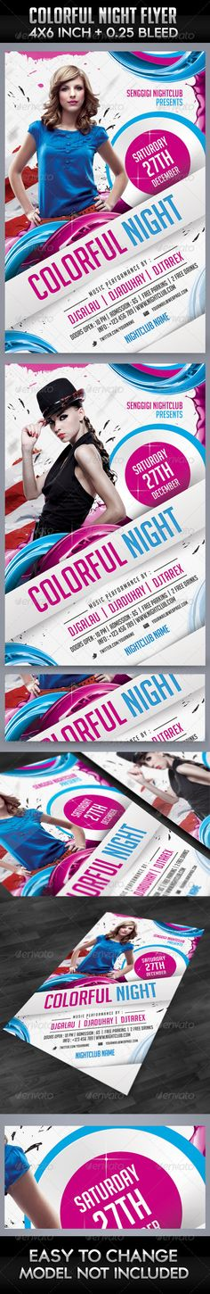 Colorful Night Flyer Template