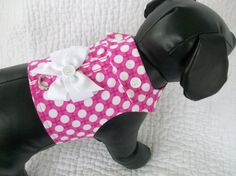 Hey, I found this really awesome Etsy listing at http://www.etsy.com/listing/151356342/hot-pink-and-white-polka-dot-harness
