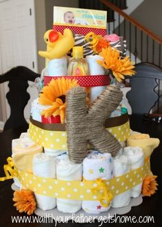 {diaper cake} - Wait Til Your Father Gets Home