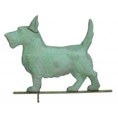 Scottie+Dog+Weathervane+Polished+Copper+Full+Size