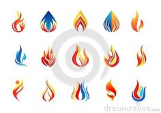Fire flame logo and set of modern flames collection logotype symbol icon design vector - http://www.dreamstime.com/stock-photography-image58639630#res7049373