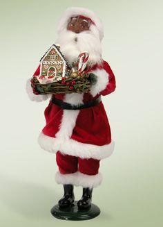 AVON African American Santa & Mrs. Claus Skating Animated RARE ...