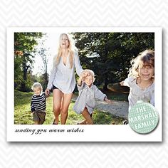 Printed Personalized Christmas Card by RuffledPaper on Etsy, $40.00