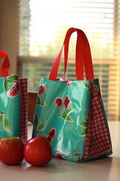 Make your own lunch bag. Cute! Tas patroon zelfmaken kids kinderen