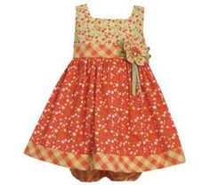 Amazon.com: Bonnie Jean Baby-Girls Orange Floral Printed Dress (3-6 months): Clothing