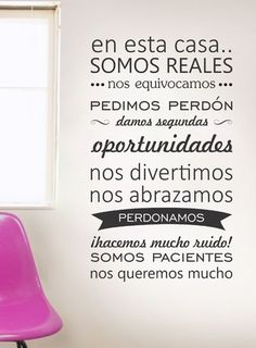 Me encantaaa :) Family Quotes, Life Quotes, Positive Messages, More Than Words, My Dream Home, Sweet Home, Inspirational Quotes, Positivity, Thoughts