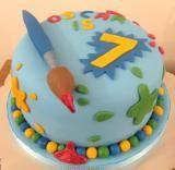 My paint cake Birthday Cake Pictures, Birthday Cakes, Birthday Ideas, Birthday Parties, Art Cakes, Cake Art, Knitting Cake, Paint Cake, Artist Cake