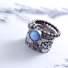 SET OF 3  silver rings by OYRZANOWSKA on Etsy