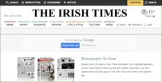 Grav is an easy to use, yet powerful, open source flat-file CMS Newspaper Article, Old Newspaper, History Websites, Irish Times, Newspaper Archives, Job Ads, Key Dates, Compare And Contrast
