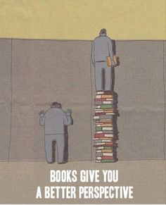 """#Tsundoku #power: because #books give you a better perspective ! (link to """"Funny Pictures Of The Day - 50 Pics"""")"""