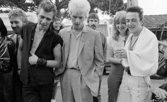 Paul Simonon, Kosmo Vinyl, Gaby Salter and Joe Strummer