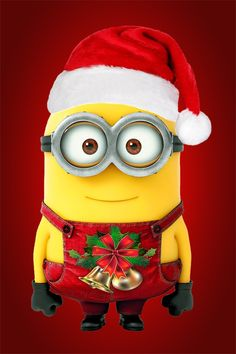 This is a picture of a holiday themed minion from the Disney Movies: Despicable Me 1 & 2. I got it from the app: Zedge. Where you can get free wallpapers an ringtones. I definitely recommend it. Thanks:-) Bye:-)