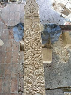 Carving, Home Decor, Tulips, Homemade Home Decor, Wood Carvings, Sculpting, Decoration Home, Cut Work, Sculpture
