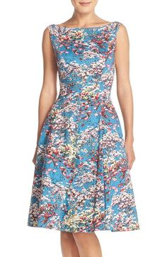 Maggy London Floral Fit & Flare Dress (Regular & Petite)