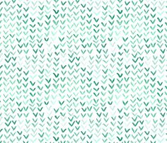 watercolor floating v's - green fabric by betsysiber on Spoonflower - custom fabric