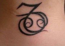 Tatuaggio segno zodiacale del capricorno: foto e significato