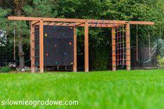Przykładowe realizacje - silownieogrodowe.com Backyard Jungle Gym, Kids Backyard Playground, Natural Playground, Backyard For Kids, Backyard Projects, Kids Outdoor Play, Outdoor Play Areas, Outdoor Gym Equipment, Painted Tires
