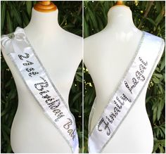 White and Silver 21st Birthday Babe Sash by LavishSashesbyLupita, $64.99
