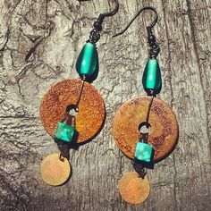 LaLa's Rusted Washer Earrings