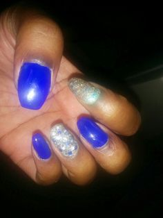 Coffin nails... Blue and bling!