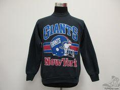 ee3975a9c Vtg 80s 90s Fruit of the Loom New York Giants Crewneck Sweatshirt sz L  Large NFL Vintage