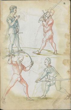 Sword fighting manual from the 16th century.