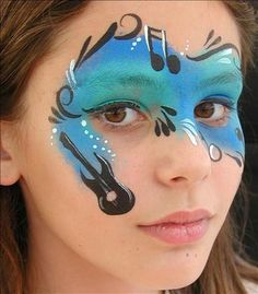 Music Face Painting. Cool Face Painting Ideas For Kids, which transform the faces of little ones without requiring professional quality painting skills.