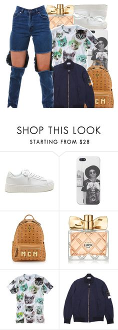 """Sans titre #374"" by lesliekabengele ❤ liked on Polyvore featuring MCM and Avon"