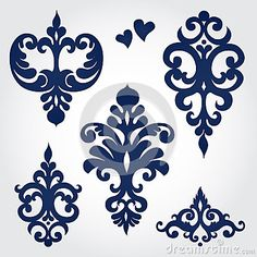 El vector fijó con los ornamentos barrocos en estilo victoriano.