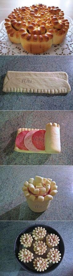 Пирог «Букет хризантем» : Выпечка несладкая | Выпечка | Постила