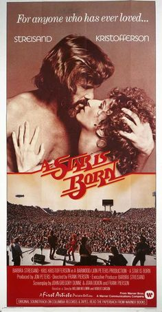 A Star Is Born 11x17 Movie Poster 1976 With Images A Star Is