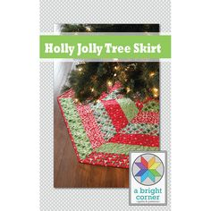 Holly Jolly Christmas Tree Skirt Pattern pdf by aBrightCorner, $8.00