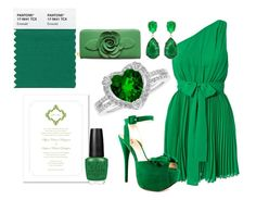 2013 Pantone Color Of The Year: Emerald | Inspiration board by Silverberry Occasions