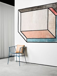 This cross-continental design collaboration from Sydney to New York, features furniture by accessories by Ladies & Gentlemen Studio & rugs by cc-tapis Wire Dining Chairs, Interior Decorating, Interior Design, Room Interior, The Design Files, Loft, Minimal Design, Contemporary Interior, Decoration