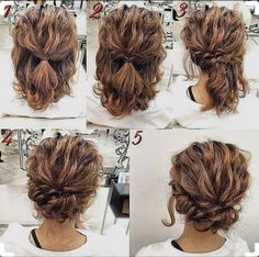 Glamorous Short Hair Bun For Curly Hairs