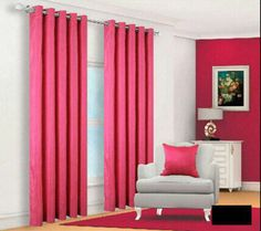 Faux Silk Fuchsia Lined Eyelet Curtains – Linen and Bedding Plaid Bedding, Pink Bedding, Luxury Bedding Sets, Turquoise Bedding, Luxury Linens, White Bedding, Best Linen Sheets, Fitted Bed Sheets, Discount Bedding Sets