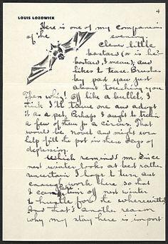 Louis Lozowick, Bolton Landing, N.Y. letter to Adele Lozowick
