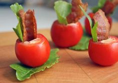 Adorable BLT Appetizers for your wedding #weddingappetizers