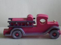 Kids Large Pink and Purple Firetruck by KentsKrafts on Etsy, $19.00