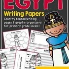 Egypt Writing Papers (A Country Study!) by Emily Bynum | Teachers Pay Teachers