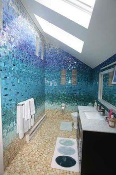 Feels Under water-  bathroom ideas