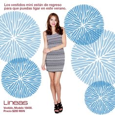 Vestido mini para este verano. #Lineas #outfit #moda #tendencias #2014 #ropa #prendas #estilo #primavera #outfit #vestido #mini