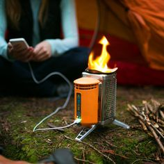 The BioLite Wood Burning CampStove combines the benefits of a lightweight backpacking stove and an off-grid power charger so you can cook a meal while charging your gadgets. The Campstove is the perfect solution for both the backcountry campsite and also Emergency Preparedness Kits.