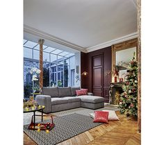 Angles, Canapé Angle Convertible, Broadway, Oversized Mirror, Adobe, Design, Furniture, Home Decor, Grey Fabric