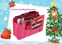 **Christmas Gift Idea #15 - Pouchee Handbag Organiser. Switching Hand-Bags has never been easier with the Pouchee Hand-Bag Organiser. It's compact design has enough pockets for Pens, Sunglasses, Mobile Phone, Credit Cards, Keys, Perfume and Lipstick. The inside zipper pocket is idea for change or personal items and dividers keep everything organised.  http://www.secretfashionfixes.ie/pouchee-cotton-pink/pou-cotton%20pinkpd.html