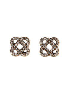 Oscar de la Renta - Pave Mosaico Earrings